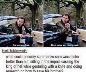supernatural, sam winchester, and jared padalecki image