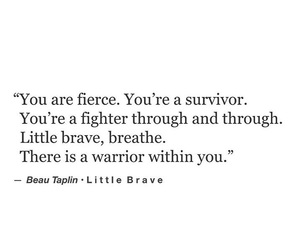 brave, poetry, and fierce image