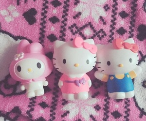hello kitty, my melody, and pink image