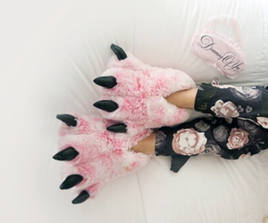 pink, rose, and slippers image