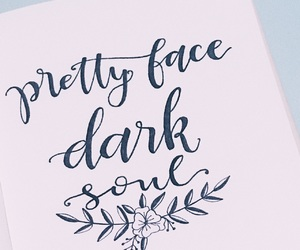 calligraphy, dark, and face image