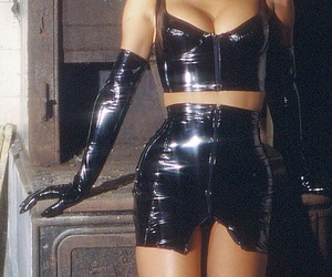 bdsm, outfit, and black image