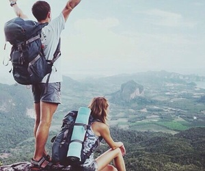 travel, adventure, and couple image