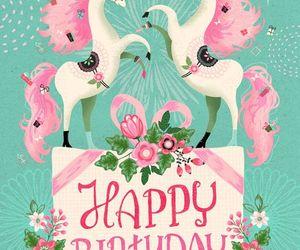happy birthday and unicorn image