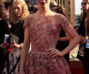 golden globes and lily collins image