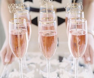 champagne, cups, and drink image