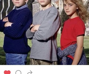 daniel, hermione, and potter image