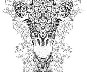 giraffe and tattoo image