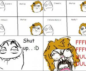 funny, lol, and shut up image