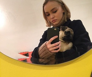 lily rose depp, pale, and selfie image