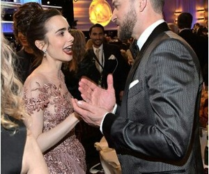 lily collins and justin timberlake image