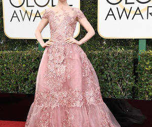 lily collins, golden globes, and red carpet image