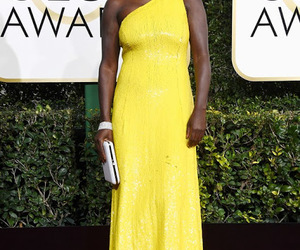 yellow dress, 2017 golden globes, and celebrity dresses image
