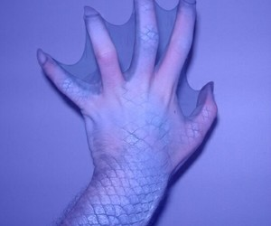 mermaid, grunge, and hand image