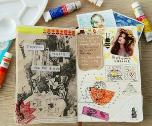 art, journal, and journals image