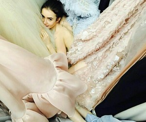 celebrity, lily collins, and golden globe image