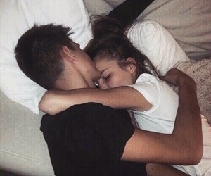 beautiful, cuddling, and heart image