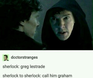 funny, meme, and sherlock image