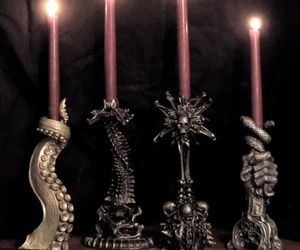 candle, dark, and candlestick image