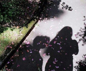 couple, flowers, and shadow image