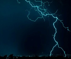 lightning, blue, and night image
