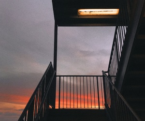 photography, sunset, and sky image