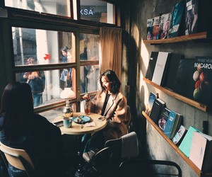 aesthetic, cafe, and cozy image