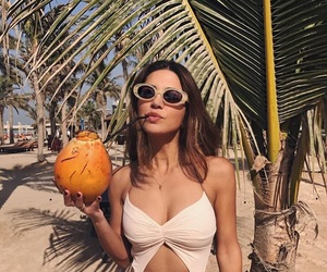 beach, coconut, and cool image
