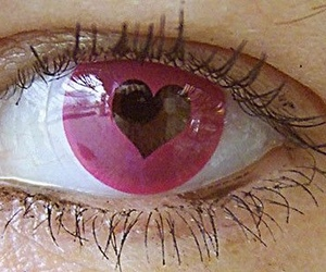 eyes, pink, and heart image