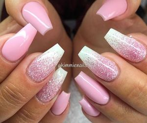 light pink, nail, and style image