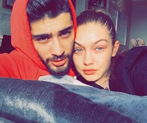 gigi hadid, zayn malik, and couple image