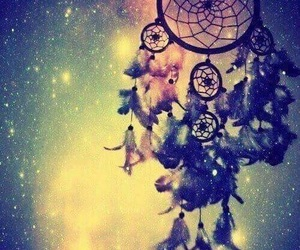 cosmos, stars, and dream catcher image