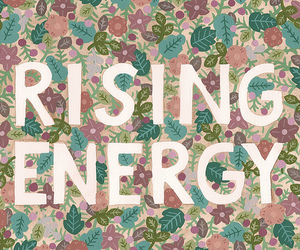 flowers, quote, and rising energy image