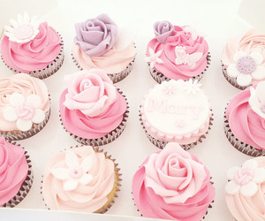 cupcakes, pink, and lilac image