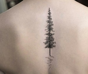 beautiful, tattoo, and tree image