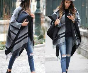 blanket poncho outfit image
