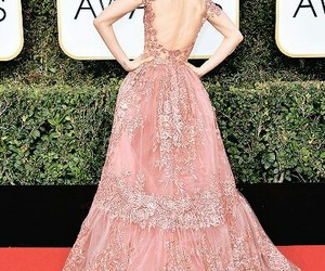 lily collins, dress, and golden globes image