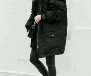 fashion, black, and winter image