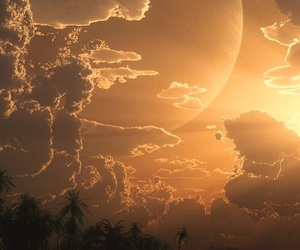 moon, sun, and clouds image