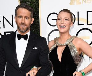 blake lively, couple, and golden globes image