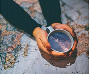 cup, map, and travel image