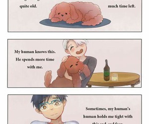 yuri on ice, makkachin, and victor nikiforov image