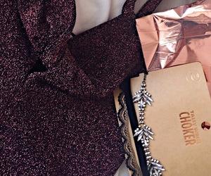 bodysuit, choker, and diamonds image