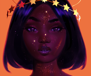 art, stars, and beauty image