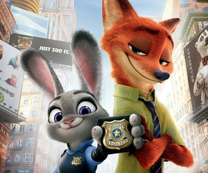 nick, judy, and zootopia image