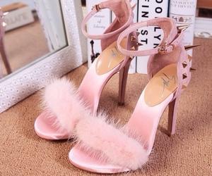girly, pink, and giuseppe zanotti image