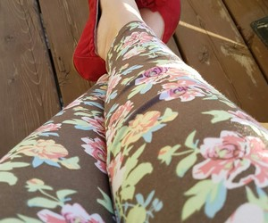 flower, red, and shoes image