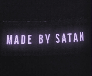 satan, black, and grunge image