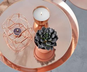 candle, rose gold, and home image