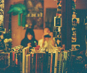 books, couple, and mirror image